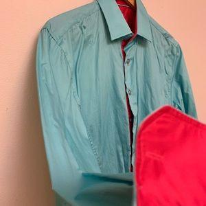 TR Tailored Reaction premium dress shirt Sz L EU 4